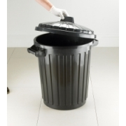 DUSTBIN BLACK WITH LID