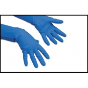 RUBBER GLOVES BLUE LRG