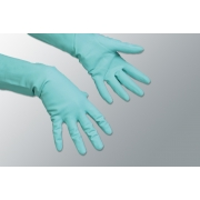 RUBBER GLOVES GREEN MED