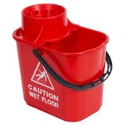 PLASTIC MOP BUCKET RED