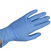 BLUE NITRILE DISPOSABLE GLOVES MEDIUM