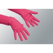 RUBBER GLOVES RED MED
