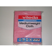 VILEDA MEDIUMWEIGHT CLOTH RED