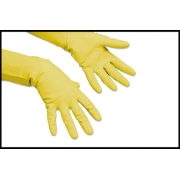 RUBBER GLOVES YELLOW LRG