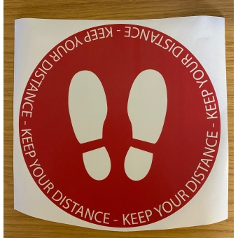KEEP YOUR DISTANCE LAMINATED FLOOR STICKER